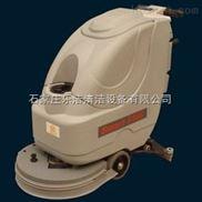 手推电源线式刷地机,工厂用半自动洗地机