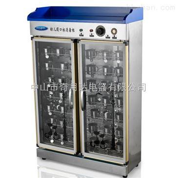 """消毒柜并非是能消灭""""千毒万毒""""的""""神柜"""",并不是所有的东西放进去都能够消毒,包括部分餐具在内的东西,都是不适合用消毒柜消毒的。不同类型的餐具应该分别消毒,即将不耐高温的餐具放进低温消毒室消毒,耐高温的可放入高温消毒室。 一般来说,塑料等不耐高温的餐具不能放在下层高温消毒柜内,而应放在上层臭氧消毒的低温消毒柜内消毒,以免损坏餐具。一些花花绿绿的盘子不宜放入消毒柜中消毒。因为这些陶瓷碗碟的釉子、颜料含有铅、镉等重金属,若遇到高温就容易溢出。消毒柜在工作状态下,内"""