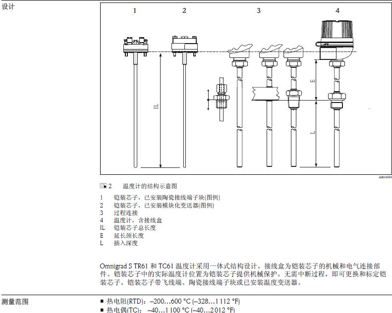 1 标准. e h omnigrad s tr61和tc61温度计采用一体式结构设计.
