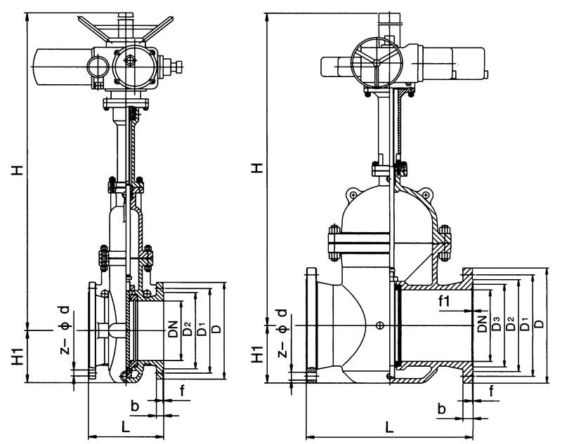 法兰连接铸钢电动闸阀