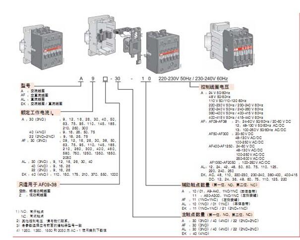 af210-30-11 af210-30-11abb直流接触器