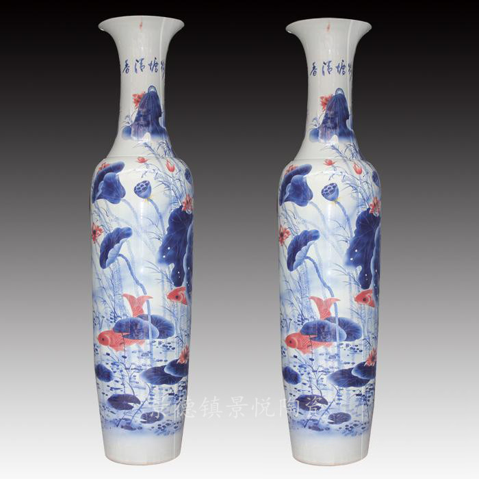 的花纹多种多样,陶瓷大花瓶工笔人物画,是指在陶瓷制品上用线描的手法