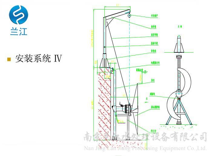 推流式潜水搅拌机接线方法 污水处理设备选型