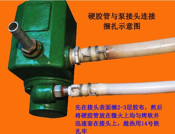 螺杆自吸泵胶管连接方法
